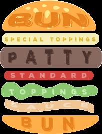 Burger Ingredients Icon - burger
